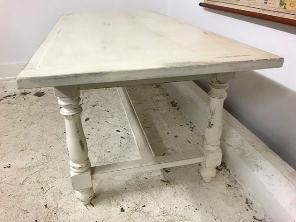 Large Painted French Table - Just in - b104